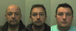 Simon Foster, aged 49, Stuart Cox, 40 and Johnathan Husselbee, 37