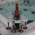 Hot tub cooler holder