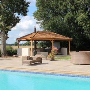 Cedartree Hot Tub Gazebo and pool Picture