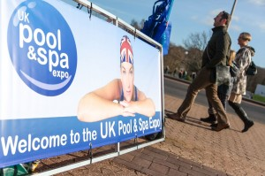 UK Pool & Spa Expo Sign Picture