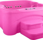 Hot tub giant in the pink