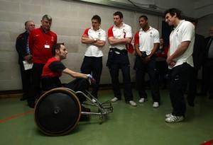 RFU Injured Players Foundation England players visit
