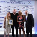 Hot tub specialists celebrating golden haul